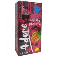 ADORE RIBBED & PLEASURE 12 UDS