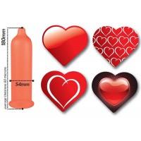 PASANTE HEART 144 PRESERVATIVOS EN BOLSA