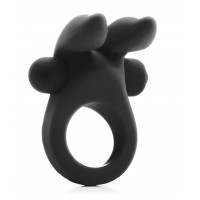 RABBIT COCKRING NEGRO ANILLO VIBRADOR