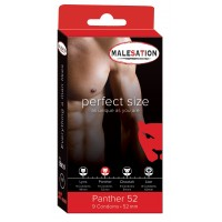 PRESERVATIVOS MALESATION PANTHER 52 ( 9 UNIDADES)